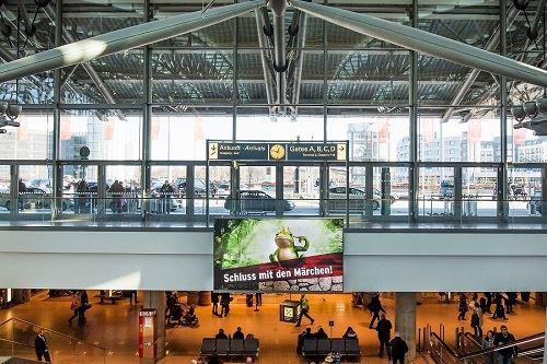 Digital Out-of-Home am Flughafen