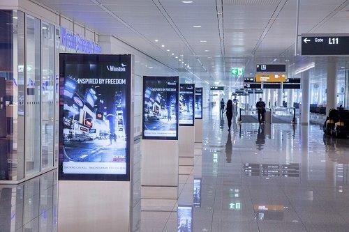 Digital Out-of-Home am Flughafen