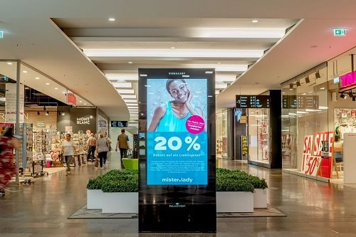 Digital Out-of-Home in Shopping-Centern