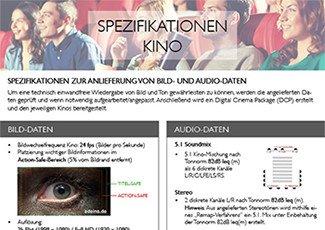 Kino-Datenblatt