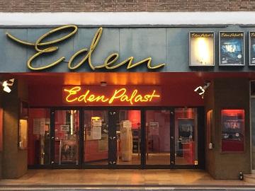 Werbung im Eden Palast Aachen