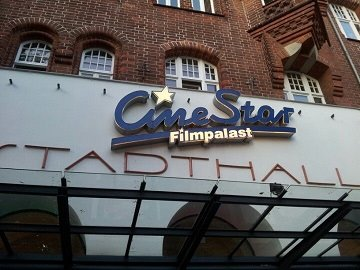 Kinowerbung CineStar Stadthalle Lübeck