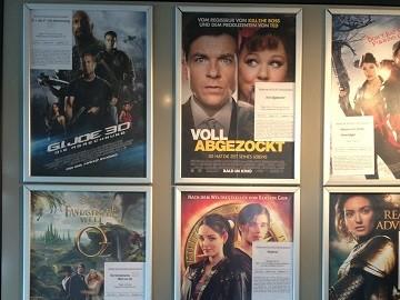 Kinowerbung Filmpalast Eisenhüttenstadt