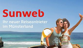 Das Bild für Online-Reiseveranstalter auf Offline-Pfaden: Sunweb.de lässt mit crossvertise Münster erblühen
