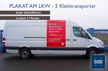 Werbung auf dem Kleintransporter
