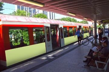 Bahnwerbung in Bremen