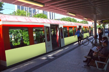 Bahnwerbung in Aachen