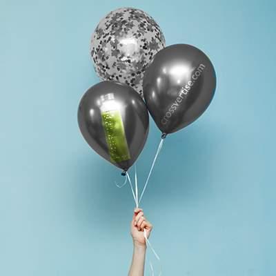 Gebrandete Helium-Ballone