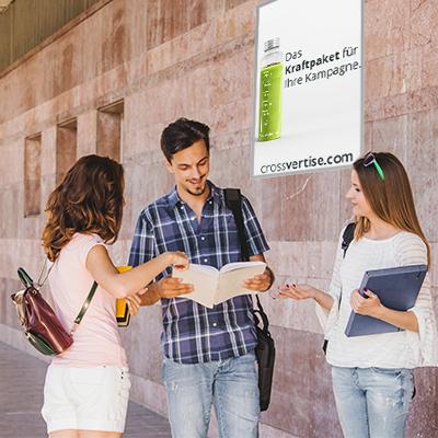 Hochschulplakate mit Dispenser