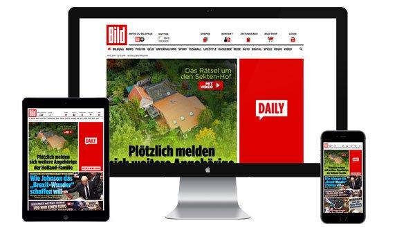 Werbung auf Bild.de