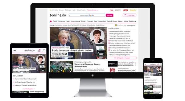 Werbung auf t-online.de buchen