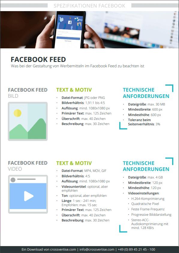 Spezifikation Facebook