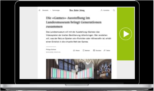 Videowerbung - In-Page Sitebar