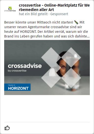 XING Ads - Beispiel-Anzeige News