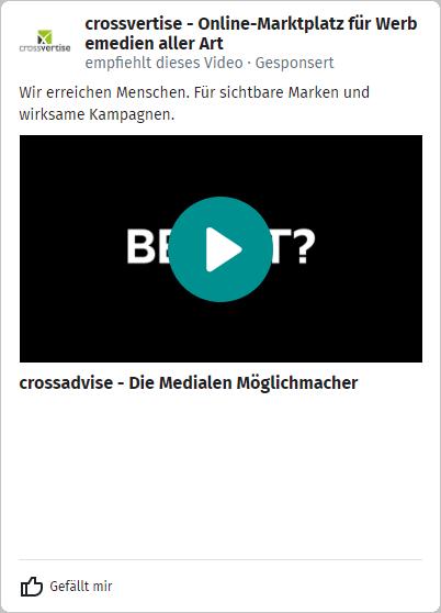 XING Ads - Beispiel-Anzeige Video Ad