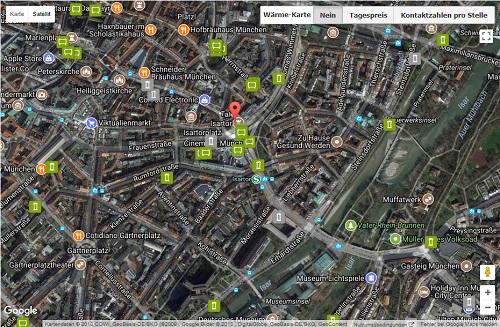 Plakatwerbung: Ansicht Satellit