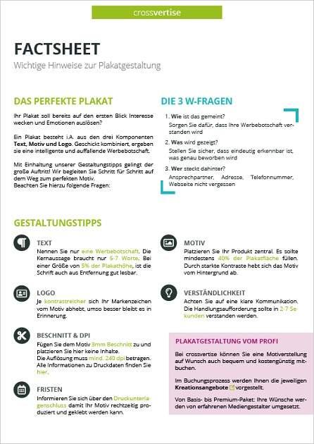 Factsheet Plakatgestaltung