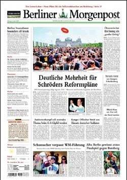 Werbung in Berliner Morgenpost