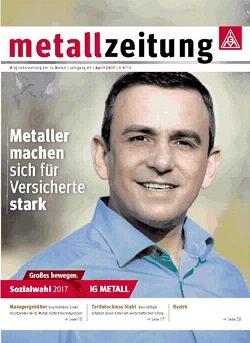 Werbung in metallzeitung