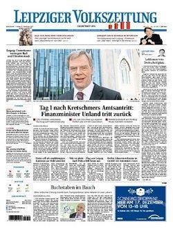 Werbung in Leipziger Volkszeitung