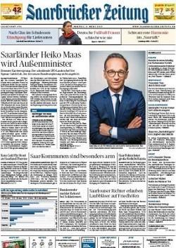 Werbung in Saarbrücker Zeitung
