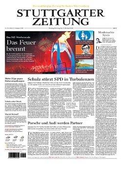 Werbung in Stuttgarter Zeitung