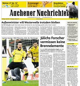 Werbung in Aachener Zeitung - Aachener Nachrichten