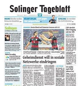 Werbung im Solinger Tageblatt