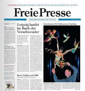 Werbung in der Freien Presse