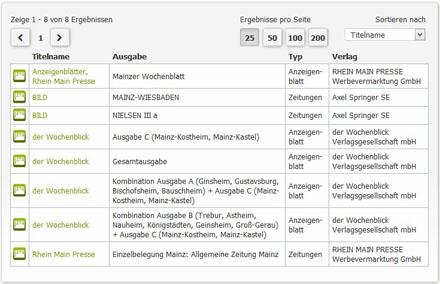 Printwerbung in Mainz