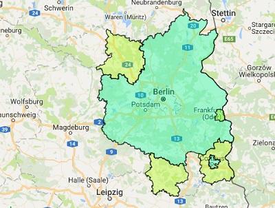 Sendegebiet Berliner Rundfunk 91.4