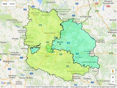 Radiowerbung Sendegebiet Energy Berlin