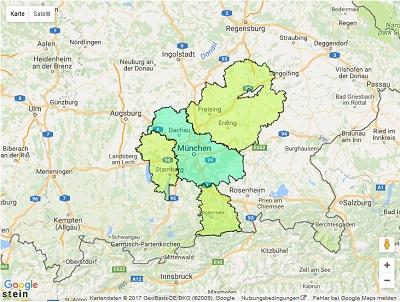 Sendegebiet ENERGY München