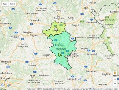 Sendegebiet ENERGY Nürnberg