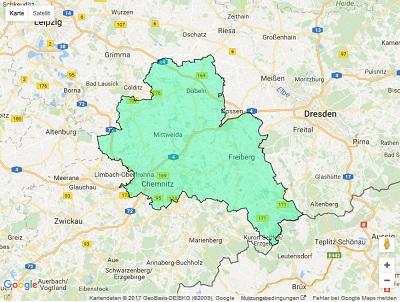 Radiowerbung Sendegebiet Radio Chemnitz