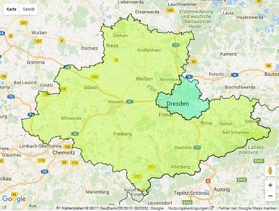 Radiowerbung Sendegebiet Radio Dresden
