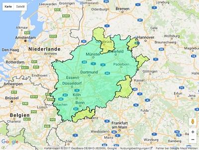 Sendegebiet Radio NRW