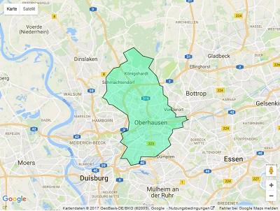 Sendegebiet Radio Oberhausen