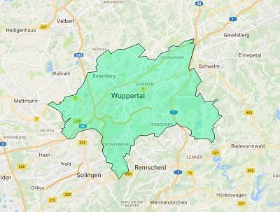 Sendegebiet Radio Wuppertal