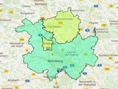 Sendegebiet Das neue Charivari 98.6 Nürnberg