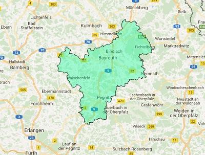 Sendegebiet Radio Galaxy Bayreuth