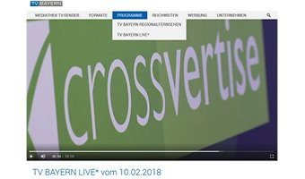 Das Bild für crossvertise live bei TV Bayern
