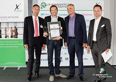 Das Bild für crossvertise gewinnt den Finaki IT-INNOVATION Award in der Kategorie Business