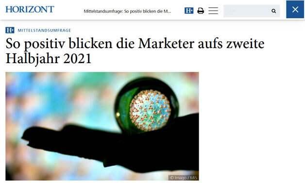 Das Bild für HORIZONT: Marketing-Trends der KMUs