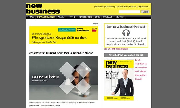 new business-crossadvise-news