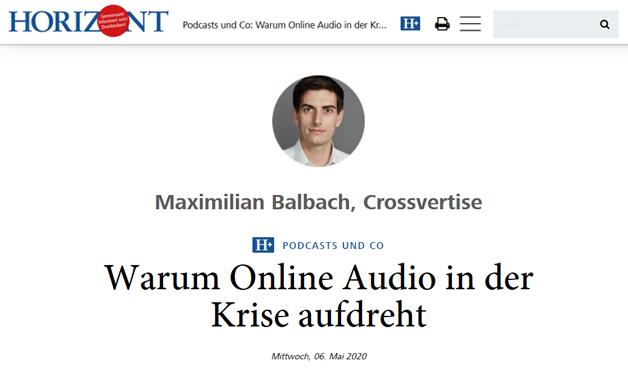 Das Bild für Warum Online Audio in der Krise aufdreht