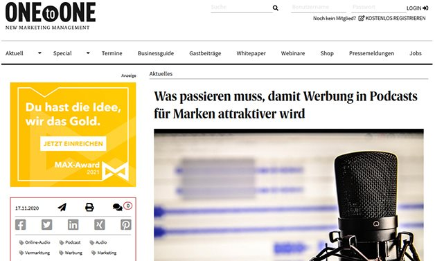 one-to-one-podcast-werbung