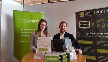 Das Bild für crossvertise auf dem Unternehmertag in Ulm