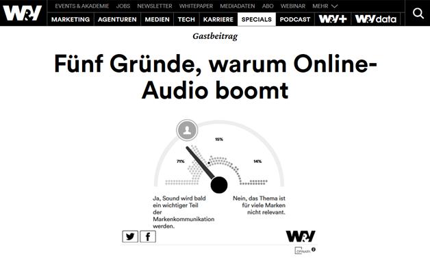 Das Bild für Fünf Gründe, warum Online-Audio boomt