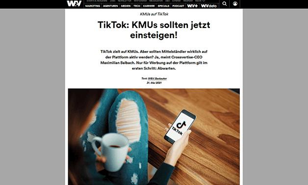 Das Bild für W&V: TikTok – KMUs sollten jetzt einsteigen!